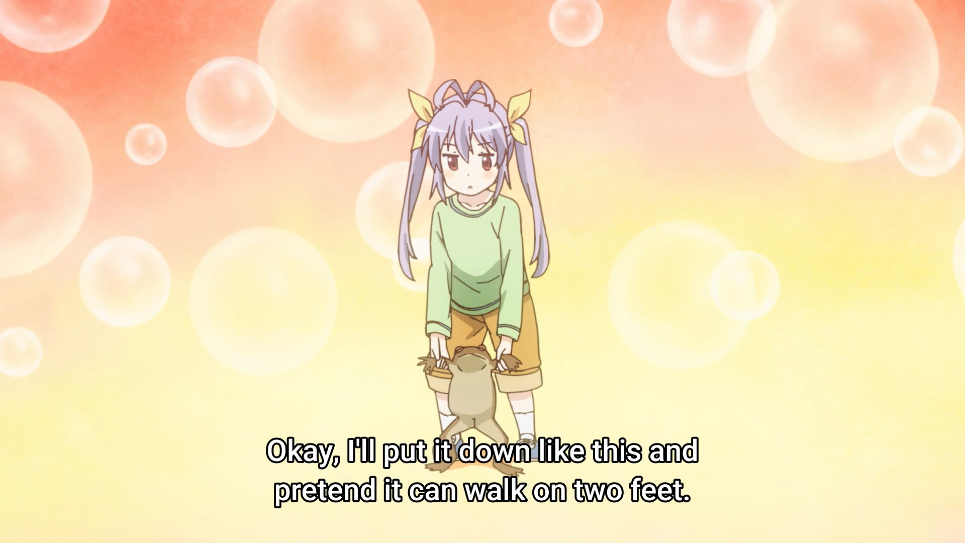 Renge and a toad