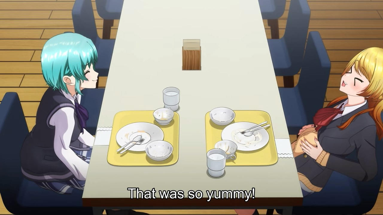 Rinku and Towa finished their lunch