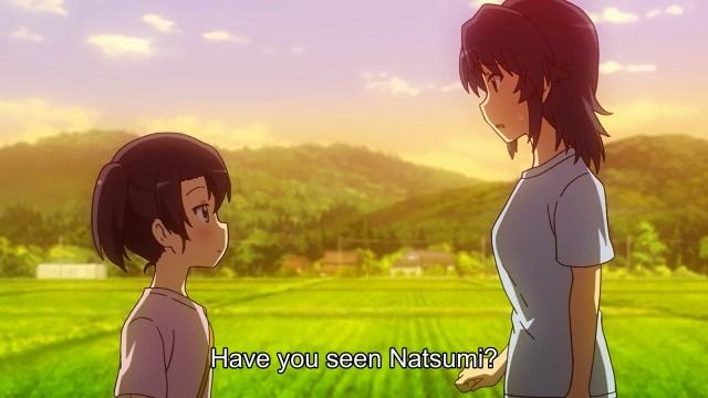 Yukiko asking Hikage about Natsumi