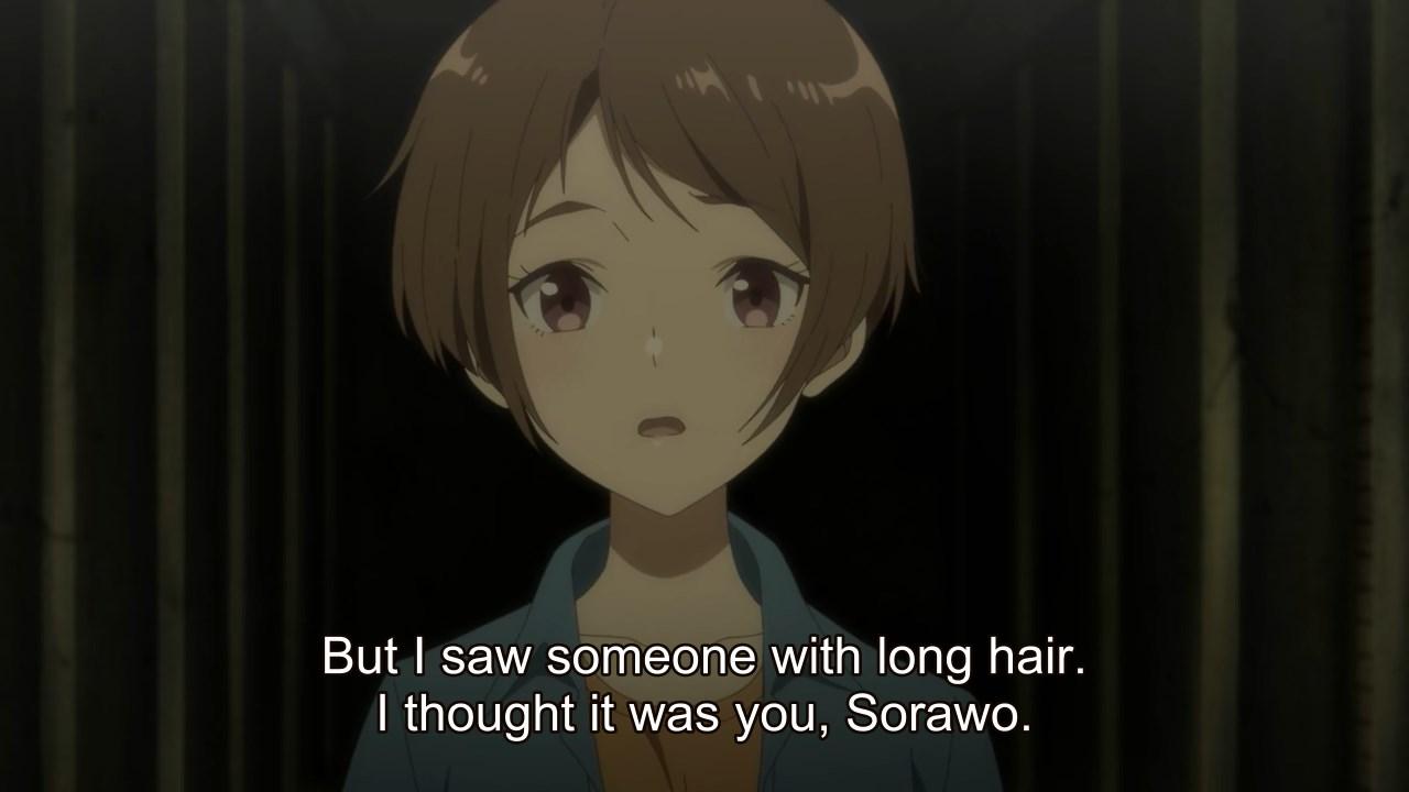 Akari following someone who looked like Sorawo