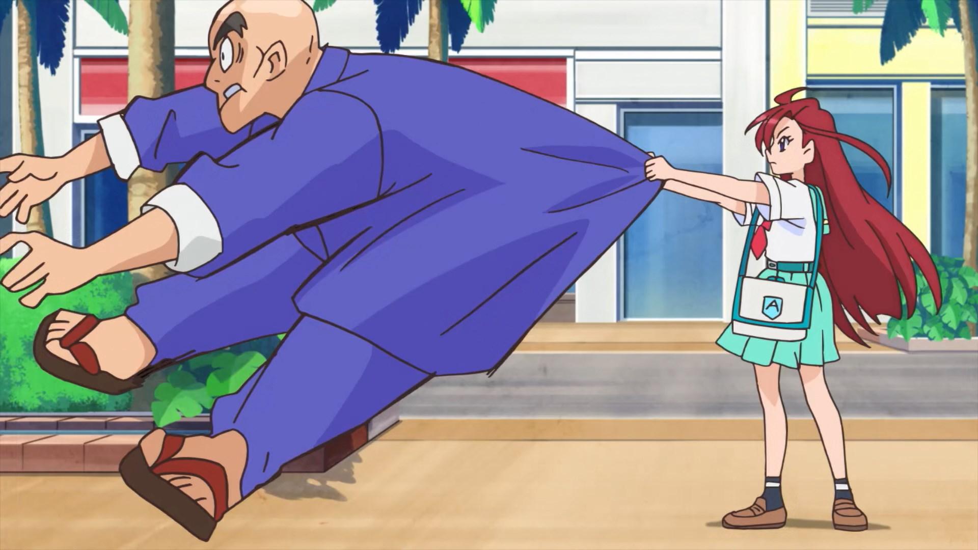 Asuka easily throws bully