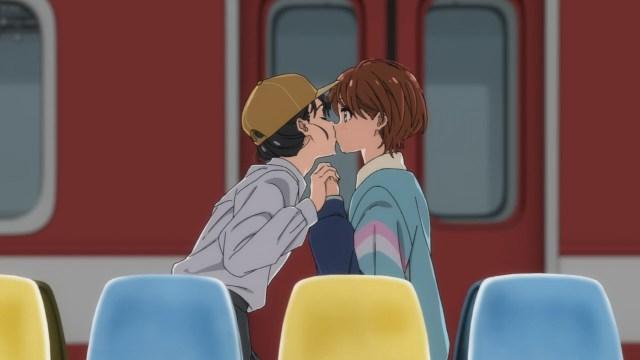 Kaoru-kun kisses Momoe
