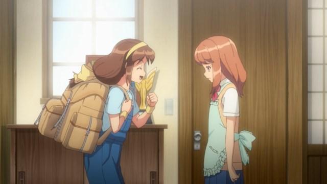Kanata saying goodbye to her sister