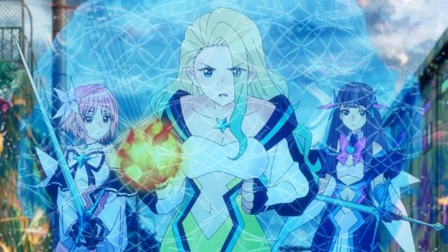 Momo helps Ruka and Hiori battle