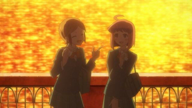 Naoko and Himeno walking home