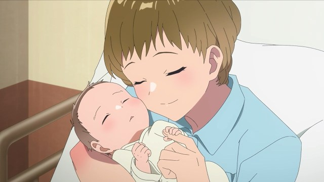 Dr Takeshita and her baby boy